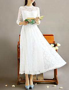 Incern Women's Vintage Elegant Slim Long Lace Dress