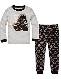 Boy's Casual/Daily Print Clothing SetCotton Winter / Fall Gray