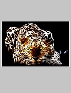 visuelle star® léopard toile fantastique image de l'art mural de salon prêt à accrocher
