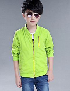 Boy's Casual/Daily Print Jacket & Coat,Others Winter / Fall Green / Orange / Red
