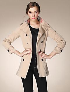 burdully vrouwen uitgaan vintage geul coatsolid met lange mouwen herfst / medium staan