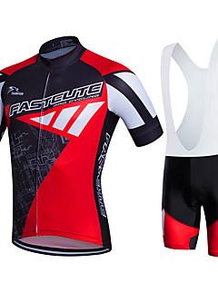fastcute Αθλητική φανέλα και σορτς ποδηλασίας Γυναικεία Ανδρικά Γιούνισεξ Κοντομάνικο Ποδήλατο Bib Καλσόν Σετ ΡούχωνΓρήγορο Στέγνωμα