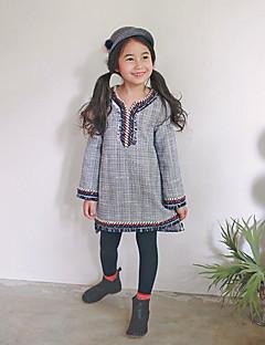 Mädchen Anzug & Overall-Urlaub Gestreift Polyester Winter / Herbst Grau