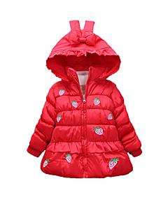 Mädchen Bluse-Lässig/Alltäglich Druck Baumwolle Winter Grün / Rosa / Rot