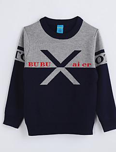 Casual/Dagelijks-Kleurenblok-Katoen-Herfst-Boy's-Trui & Vest-Blauw