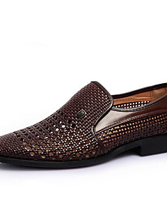 Men's Sandals Comfort Leather Summer Casual Low Heel White Black Coffee Flat