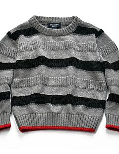 Boy's Casual/Daily Striped Sweater & CardiganCotton Winter / Spring / Fall Gray