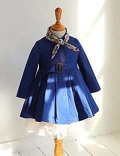 Girl's Casual/Daily Solid Suit & BlazerCotton Spring / Fall Blue / Brown