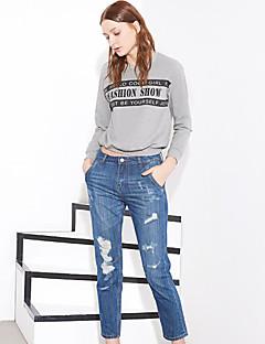 Pantalon Aux femmes Jeans Chic de Rue Coton / Polyester Non Elastique