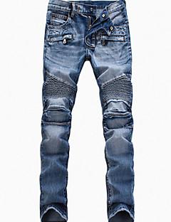 Kvinner Enkel Jeans / Chinos Bukser Bomull Elastisk