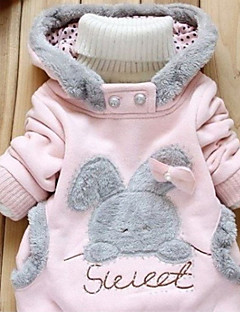 Girl's Casual/Daily Solid BlouseCotton Winter / Spring / Fall Pink / Gray