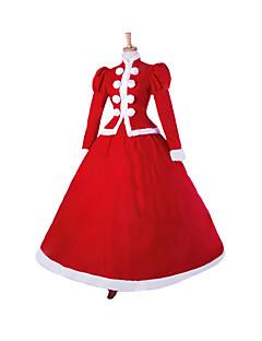 תחפושות קוספליי נסיכות / חליפות סנטה / תחפושות בנושאי קולנוע וטלוויזיה פסטיבל/חג תחפושות ליל כל הקדושים אדום אחיד שמלההאלווין (ליל כל