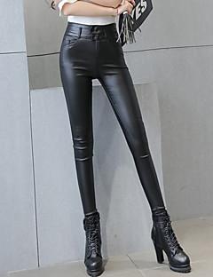 Dámské Sexy / Šik ven Úzké Umělá kůže Elastické Kalhoty