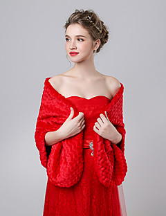 Women's Wrap Shawls Faux Fur / Imitation Cashmere Wedding / Party/Evening Pattern
