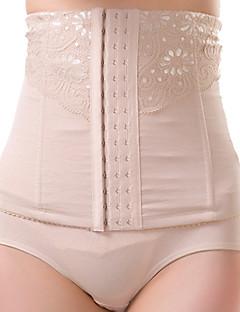 Women's Underbust Corset Nightwear Sexy Solid-Medium Nylon Beige / Black