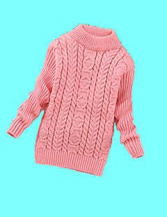 Girl's Casual/Daily Solid Sweater & CardiganWool Winter Black / Pink / Red / White / Yellow
