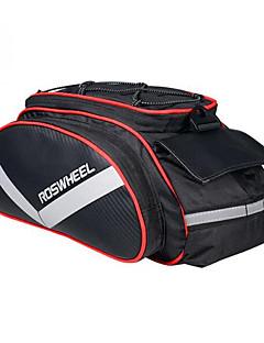 ROSWHEEL® 自転車用バッグ 13Lショルダーバッグ / 自転車用リアバッグ/自転車用サイドバッグ 防湿 / 耐衝撃性 / 耐久性 自転車用バッグ PUレザー / 600Dポリエステル サイクリングバッグ 40*16*21