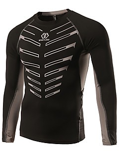 Sports Cycling Jersey Men's Long Sleeve Bike Quick Dry /  Low-friction / Lightweight Materials Jersey