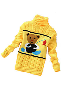 Girl's Casual/Daily Striped Sweater & CardiganWool Winter Black / Blue / Pink / Red / White / Yellow