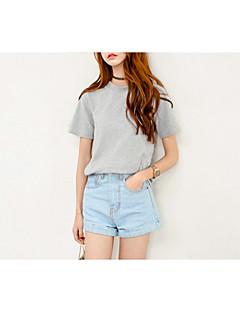 Sexy / Schattig / Street chic-Katoen-Micro-elastisch-Kort / Jeans-Broek-Vrouwen