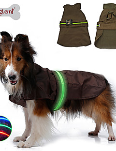 Dog Rain Coat / Vest Blue / Black / Brown Dog Clothes Winter / Spring/Fall Solid Waterproof / LED