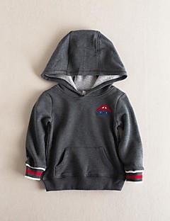 Boy's Casual/Daily Solid Hoodie & SweatshirtCotton Fall Blue / Gray