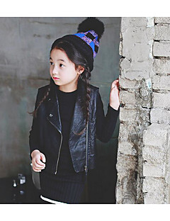 Girl's Casual/Daily Solid VestPU / Bamboo Fiber Winter / Fall Black