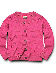 Girls' Casual/Daily Solid Sweater & Cardigan,Cotton Spring Fall Winter Long Sleeve
