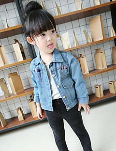 Mädchen Anzug & Blazer-Lässig/Alltäglich einfarbig Baumwolle Herbst Blau