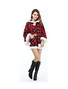 Festival/Feestdagen Halloween Kostuums Zwart & Rood Geruit Ves / Top / Short Kerstmis Vrouwelijk