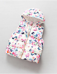 Girl's Casual/Daily Floral VestCotton Winter White