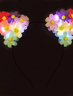 Fever Light Up Cat Ears Flower Headband  Led Daisy Headband Halloween GiftChristmas Gift Party Gift Idea