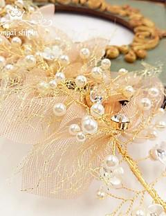 הינומות חתונה שכבה אחת כיסויי ראש עם הינומה קצה עפרון אורגנזה