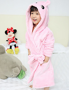 Girl's Casual/Daily Solid SleepwearCotton Fall Pink / Beige