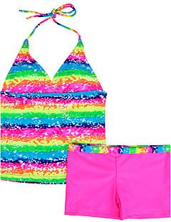 בגדי ים חוף דפוס ניילון / ספנדקס קיץ כחול / צבעוני / סגול / אדום הילדה של