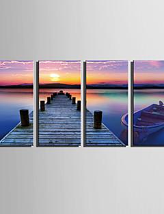 Paesaggio Print Canvas Quattro Pannelli Pronto da appendere , Verticale
