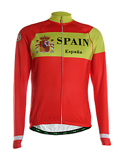 TVSSS חולצת ג'רסי לרכיבה לגברים שרוול ארוך אופניים ג'רזי שמור על חום הגוף ייבוש מהיר רוכסן קדמי נושם כיס אחורי בד קל מאודפוליאסטר גיזות