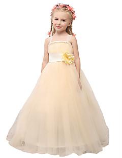 shangshangxi Da ballo Lungo Abito da damigella d'onore bambina - Raso Tulle Con bretelline conFiocco (fiocchi) Fiore (i) Di pizzo Fascia