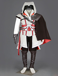 Cosplay Costumes / Party Costume / Masquerade Soldier/Warrior / Assassin Movie Cosplay Red / White / Black Print / PatchworkCoat / Shirt