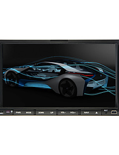 """2 din 7 """"LCD touch screen in het dashboard auto DVD speler met bluetooth, rds, ipod-ingang, stereo radio, atv"""