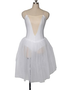 בלט שמלות בגדי ריקוד נשים / בגדי ריקוד ילדים ביצועים ניילון / טול / לייקרה חלק 1 בלי שרוולים Tutus