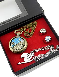 Relógio / Mais Acessórios Inspirado por Fairy Tail Lucy Heartfilia Anime Acessórios de Cosplay Colares / Relógio / Anel Dourado Liga