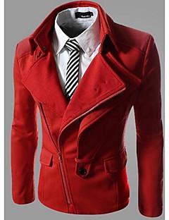 メンズ カジュアル/普段着 ヴィンテージ ストリートファッション シャツカラー ソリッド その他 長袖