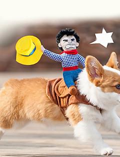 honden kostuums Meerkleurig Hondenkleding Zomer / Lente/Herfst Cartoon Schattig / Cosplay / Cowboy