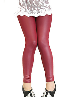 Girls Fashion Han Edition Joker Thin Leather Leggings