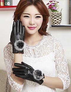 женские пу длины шерсти кролика запястья кончики пальцев добавить шерсть расстроить мило / партии / вскользь способа зимы теплые перчатки