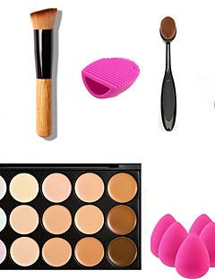 15 Concealer/ContourPuff av pulver/Skjønnhetsblender Sminkebørster Våt Ansiktتغطية Concealer Ujevn hudtone Naturlig Poreredusering