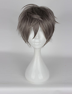 Cosplay Wigs Cosplay Cosplay Gray Short Anime/ Video Games Cosplay Wigs 35 CM Heat Resistant Fiber Unisex