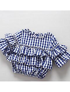 חולצה כותנה אביב יום יומי\קז'ואל משובץ בנות