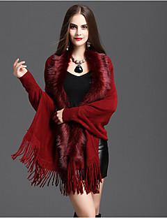 Damer Casual Bomuld / Bomuldsblanding Halstørklæde-Ensfarvet Rektangulær Rød / Blå / Brun / Grå / Beige